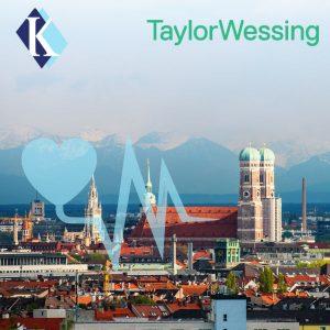 Münchener Frauenkirche mit Alpen im Hintergrund, MDR-Workshop Kalms Consulting & Taylor Wessing